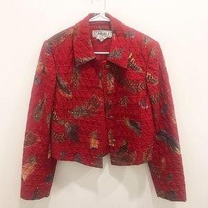 Vintage 90s Feather Jacket